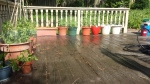 The porch gets a wet down too
